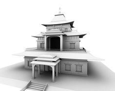 Temple by jussslic—Modeled in Maya, mental ray render with ambient occlusion. Ambient Occlusion, Maya, Temple, Digital Art, Deviantart, Writing, Places, Inspiration, Biblical Inspiration