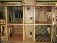 Antique German Christian HACKER large DOLLS House from sondrakruegerantiques on Ruby Lane