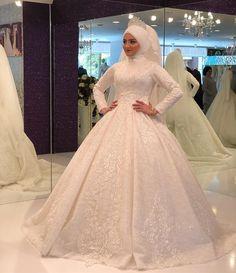 Muslim Wedding Gown, Hijabi Wedding, Muslim Wedding Dresses, Muslim Brides, Formal Wedding, Wedding Gowns, Bridal Hijab, Bridal Gowns, Hijab Dress Party