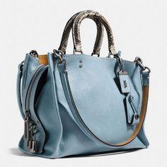 Rogue Bag in Colorblock Python - Coach Purse Coach Handbags, Tote Handbags, Purses And Handbags, Leather Handbags, Coach Bags, Prada Handbags, Coach Purses, Leather Bag, Burberry Handbags