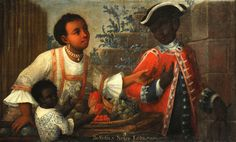 Casta painting, Museum of Fine Arts, Boston. These paintings, popular in the 17th and 18th centuries, were intended to force a social hierarchy out of the myriad mixed-race marriages that took place in colonial Latin America by creating racial names for the offspring of these marriages. A Spanish-Amerindian child was called a mestizo. Here, a Indian-African child is shown to be a Loba. Each  child had a place in the system, but none surpassed the Peninsular, a Spanish-born ...