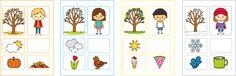 evszakok_color Diy And Crafts, Crafts For Kids, Techno, Preschool, Classroom, Seasons, Education, Learning, Children