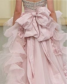 Zuhair Murad - Couture Bridal~~Wanting the bows is a  must on this dress and the draping is great