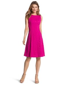 Chico's Floral Sleeveless Pink Dress #chicos