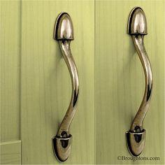 Plain Solid Pewter Cupboard Door Pull Handle