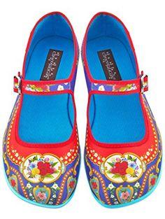 e295210b7a60 Hot Chocolate Design Chocolaticas Carousel Women s Mary Jane Flat  Multicoloured US Size  5 ❤ .