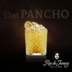 DON PANCHO by Michael Durinik 50ml Ron de Jeremy Reserva, 15ml Honey water, 15ml Lime juice, 20ml Velvet falernum, 20ml Belvoir elderflower lemonade, 40ml Belvoir ginger beer, 2 dashes Angostura bitters. First pour over crushed ice the juice, honey water, Velvet falernum, lemonade and ginger beer. Swizzle all ingredients in the glass and fill up with crushed ice. Finish with a shot of Ron de Jeremy Reserva, and two dashes of Angostura bitters. Garnish with a dried lime wheel, and swizzle…