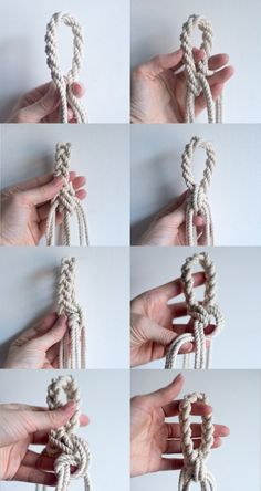 DIY macrame loop - hanging planter