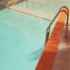 Swimming Pool Architectural Landscape 10x10 Mid Century. $30.00, via Etsy.
