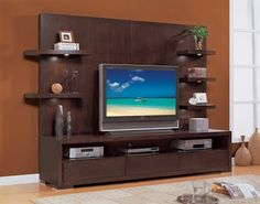 Tv wall unit. I think I can get the hubby to make it go to the ceiling