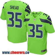 Men's Seattle Seahawks #35 DeShawn Shead Green 2016 Color Rush Stitched NFL Nike Elite Jersey