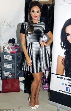Spotted: Vicky Pattison attended day two of The Beauty Show to promote her hair extension ...