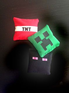 Minecraft Bean Bags inspired by lunaimpressionsshop on Etsy
