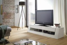 Modern TV Unit in High Gloss White.  Buy online UK exclusively at http://funique.co.uk
