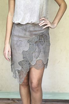Everly Suede Wrap Skirt
