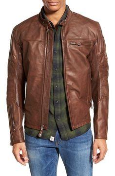 ROLAND SANDS DESIGN 'Ronin' Café Racer Leather Jacket available at #Nordstrom