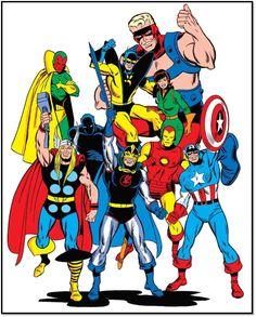 the avenger assemble super hero Avengers Comics, Marvel Comic Books, Marvel Heroes, Comic Books Art, Marvel Avengers, Sal Buscema, Comic Artist, Comic Covers, Marvel Universe