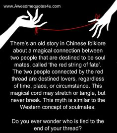 Awesome Quotes: A magical connection between two people that are destined to be soul mates