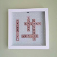 Scrabble Frame Scrabble Tile Crafts, Scrabble Frame, Holidays, Cards, House, Squares, Holidays Events, Home, Holiday