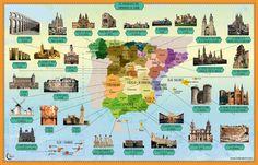 Mapa monumentos de España