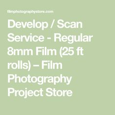 Develop / Scan Service - Regular 8mm Film (25 ft rolls) – Film Photography Project Store Bad Film, Film Movie, Movies, To Move Forward, Moving Forward, Film Photography Project, Color Negative Film, Windows Movie Maker, Add Music