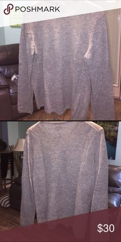 Gray Cashmere size L Crew neck Sweater Gorgeous 100% cashmere Charter Club Sweaters Crew & Scoop Necks
