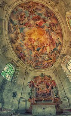 Photograph silence by Pati Makowska on 500px. Abandoned Catholic Chapel , Poland