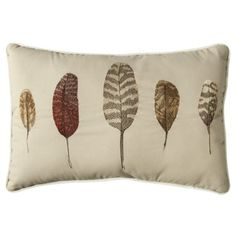 Threshold™ Feather Embroidery Decorative Pillow  $24.99
