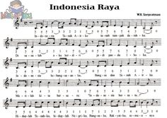 image result for not angka dan not balok lagu indonesia raya ...