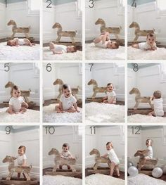 DIY Baby-Fotografie: Das erste Jahr in Fotos DIY Baby Photography: The first year in photos Newborn Pictures, Baby Pictures, Baby Growth Pictures, Baby Monat Für Monat, Baby Chart, Milestone Pictures, Monthly Baby Photos, Diy Bebe, Foto Baby