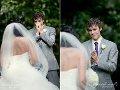 2nd set.    this wife surprised her husband for him to see her for the first time and the photographer caught all the best shots. he even cried! i really hope the man i marry is just like this<3