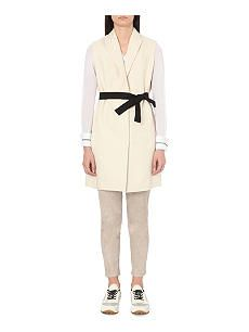 BRUNELLO CUCINELLI Sleeveless cotton-blend wrap jacket