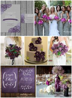 Gray Purple Wedding Ideas