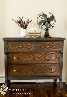 Hand painted dresser