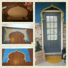 Aladdin / Jasmine themed birthday party. Decor ideas. Entrance door