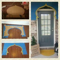 Aladdin / Jasmine themed birthday party. Decor ideas. Entrance door