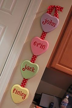 conversation hearts decor
