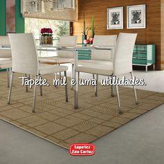 Tapetes demarcam espaços, embelezam ambientes e podem ser o centro das atenções. Use e abuse das mil e uma utilidades de um belo tapete Tapetes São Carlos. Coleção Bali, Mate.