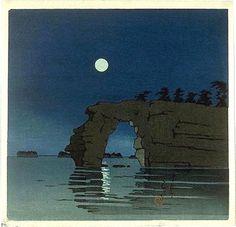 Kawase Hasui (1883-1957): Moon at Matsushima, 1930