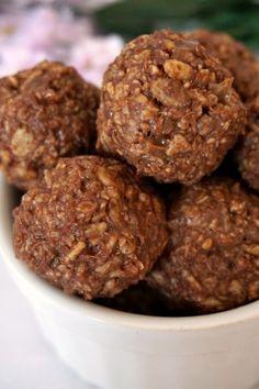 A close-up shot of rice krispie peanut butter balls arranged in a bowl.