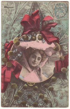 French theater actress postcard. Dhomas. Early 1900's.