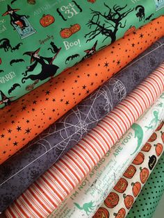 Witch Hazel Halloween fabric bundle by Riley Blake by fabricshoppe