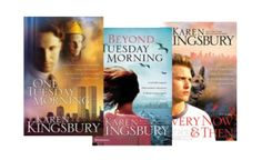 Karen Kingsbury books - what series of hers could you possibly call your favorite? And would you read them again? Would you be able to stop yourself from crying when you read her books? I just chose the 9/11 series (because of all the tears I cried);but read all her books! They are worthy of reading!