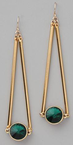 Gemma Redux Siam Green Crystal Drop Earrings