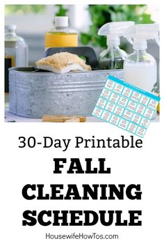 30-Day Fall Cleaning Schedule - A deep-cleaning routine that won't wear you out. #cleaning