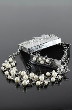Wedding necklace , beads