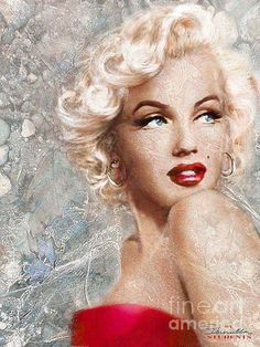 Theo Danella Painting - Marilyn Danella Ice Sepia by Theo Danella Arte Marilyn Monroe, Marilyn Monroe Portrait, Marilyn Monroe Tattoo, Marilyn Monroe Painting, Marilyn Monroe Quotes, Pin Up Retro, Foto Picture, Marilyn Moroe, Norma Jeane