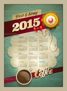 Coffee & Cake Calendar Poster 2015