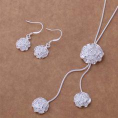 AS200 Hot 925 sterling  silver Jewelry Sets Earring 288 + Necklace 463 /bkmakbta aimaizta #Affiliate