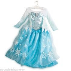 Disney Store Frozen Elsa Dress Costume Princess Fancy NEW Size 7 8
